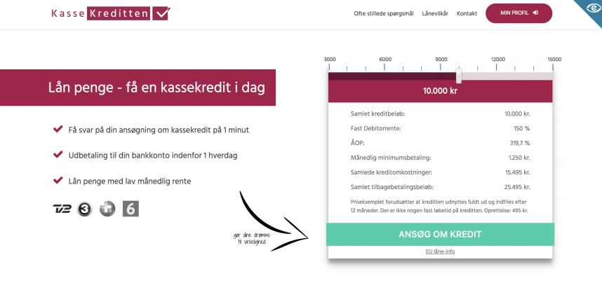 Kassekreditten.dk - lån penge online