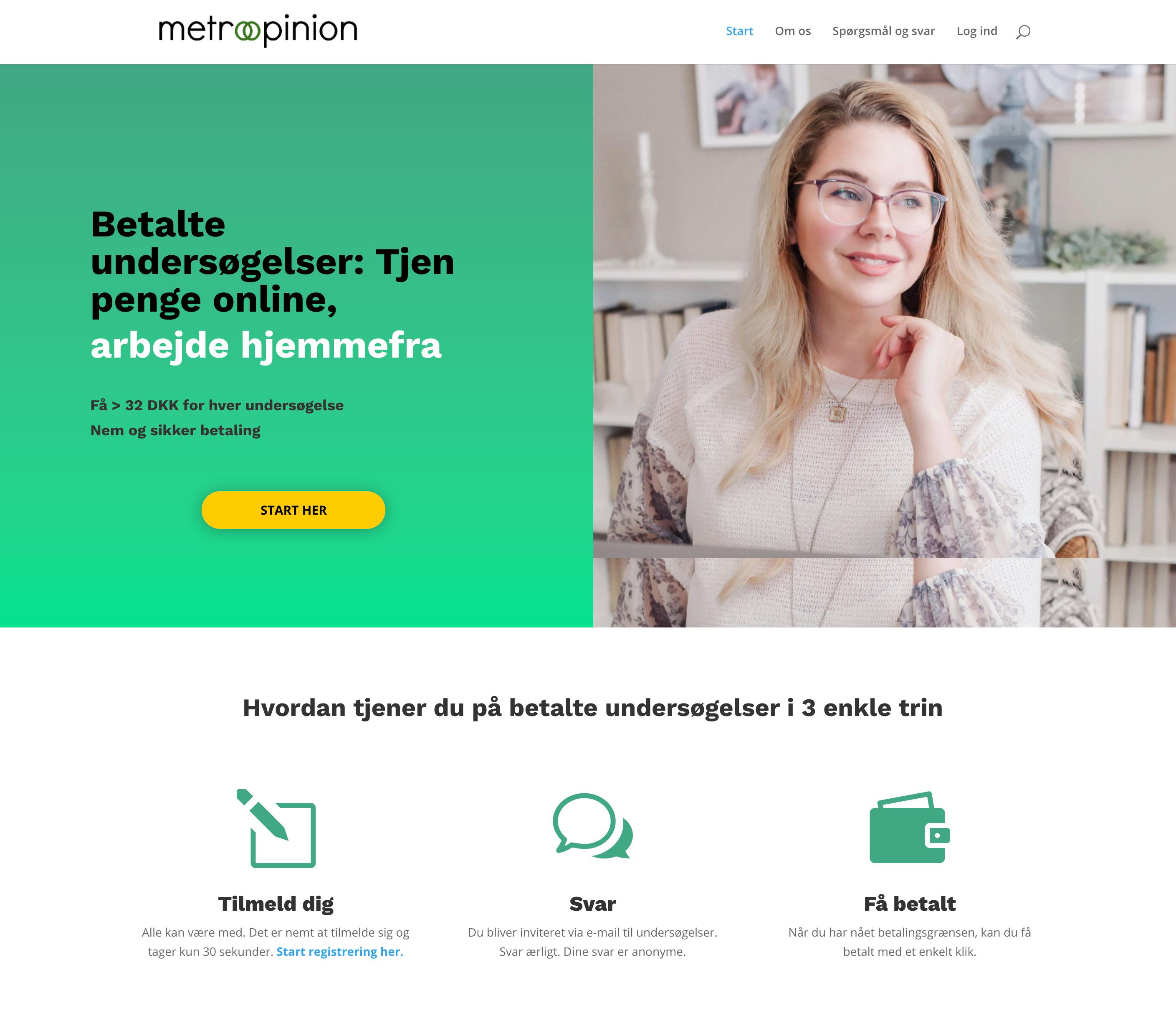 Ny visuel identitet til Metroopinion – site for betalte undersøgelser online
